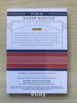 2020 National Treasures SANDY KOUFAX AUTO #d 2/15 HALL OF FAME GOLD AUTOGRAPH OC
