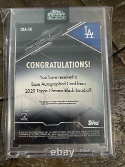 2020 Topps Chrome Black Sandy Koufax Autograph CBA-SK Dodgers Auto Hall of Fame