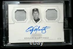 2020 Topps Dynasty Edgar Martinez Dual Patch Auto #4/5 Mariners Hall of Fame