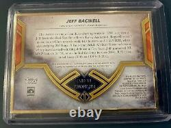 2020 Topps Transcendent Jeff Bagwell Auto On Card #/25 Hall Of Fame 2017