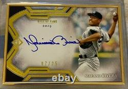 2020 Topps Transcendent Mariano Rivera Hall of Fame Gold Auto #7/25 Yankees