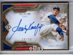 2020 Transcendent Hall of Fame Auto SANDY KOUFAX Framed AUTOGRAPH 25/25 Topps