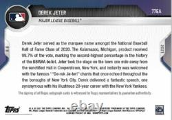 2021 Topps Now Auto Card /99 Yankees Derek Jeter #776a Hall Of Fame Class Of 20
