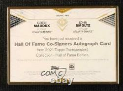 2021 Transcendent Hall Of Fame Edition /15 John Smoltz Greg Maddux Auto HOF