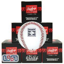 (6) Rawlings MLB Hall of Fame HOF Commemorative Baseball Manfred Boxed