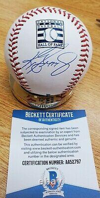 Autographed KEN GRIFFEY JR Official Hall of Fame Logo Baseball Beckett COA