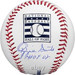 Autographed Ozzie Smith St. Louis Cardinals Signed Hall of Fame Baseball withInsc