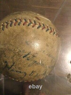 Babe Ruth & Connie Mack 1930s hall of fame Multi- signed baseball. PSA/DNA