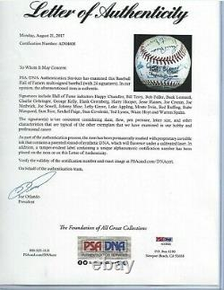 Baseball Hall of Fame Autographed MLB Ball PSA Letter (24) Signatures Paige