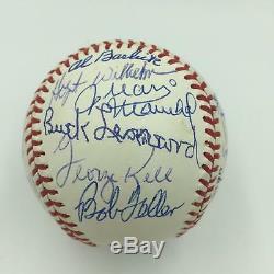 Beautiful Hall Of Fame Multi Signed National League Baseball 24 Sigs PSA DNA COA