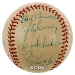 Beautiful Ty Cobb Cy Young Tris Speaker Hall Of Fame Multi Signed Baseball PSA