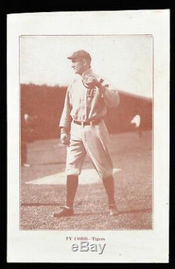 Circa 1912 Premium Ty Cobb Detroit Tigers Hall-of-Fame