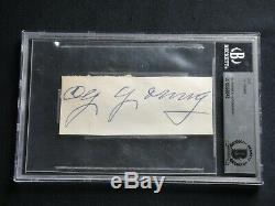 Cy Young Signed Cut Autograph Beckett (bas) Certified Authentic Hall Of Fame Hof