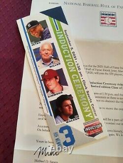 DEREK JETER 2021 Baseball Hall of Fame Induction Ceremony MINT RESERVED Ticket