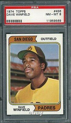Dave Winfield 1974 Topps Rookie #456 PSA 8 Hall of Fame / Nicely Centered