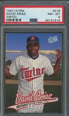 David Big Papi Ortiz 1997 Ultra Rookie #518 PSA 8 Future Hall of Fame