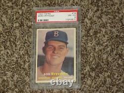 Don Drysdale RC 1957 Topps PSA 4 Rookie Card # 18 Hall of Fame LA Dodgers HOF