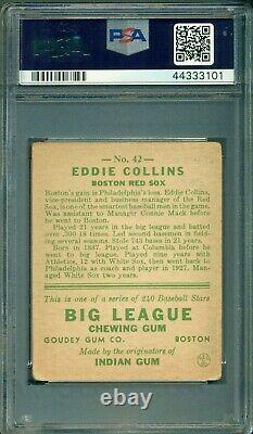 Eddie Collins 1933 Goudey #42 PSA 2.5 Hall of Fame / Centered
