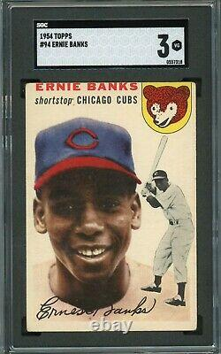 Ernie Banks 1954 Topps Rookie #94 SGC 3 Hall of Fame / Chicago Cubs Legend