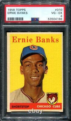 Ernie Banks 1958 Topps #310 PSA 4 Chicago Cubs Legend / Hall of Fame