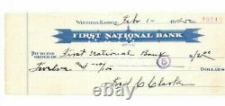 FRED CLARKE Autograph Signed Check Baseball Hall Of Fame Pirates Died-1960