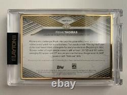 Frank Thomas 2021 Topps Transcendent Hall of Fame Gold Frame Red Auto 1/1 SP
