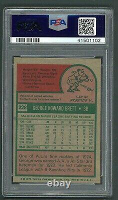 George Brett 1975 Topps Rookie #228 PSA 7 Hall of Fame / Well Centered
