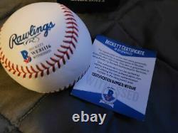 Greg Maddux Atlanta Braves Signed Hall of Fame Logo Baseball Inscribed HOF 2014
