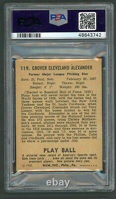 Grover Cleveland Alexander 1940 Play Ball #119 PSA 4 Hall of Fame Hurler