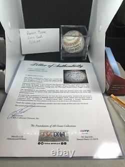 Hall Of Fame Autographed Baseball Joe DiMagio, Hank Aaron, Stan Musial 18 Total