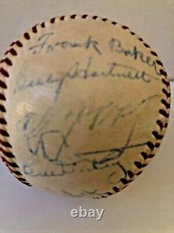 Hall of Fame Multi Signed Baseball PSA LOA Cy Young Tris Speaker Jimmie Foxx