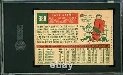 Hank Aaron 1959 Topps #380 SGC 6 Hall of Fame Slugger / True Home Run King