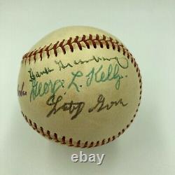 Hank Greenberg Lefty Grove Joe Mccarthy Hall Of Fame Multi Signed Baseball PSA