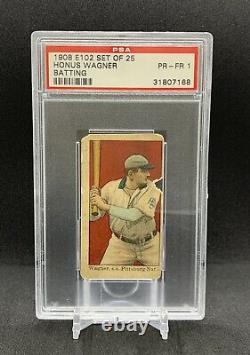 Honus Wagner 1908 E102 Set Of 25 Batting PSA Graded Tobacco Hall of Fame HOF
