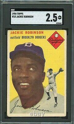 Jackie Robinson 1954 Topps #10 SGC 2.5 Hall of Fame / Baseball Icon
