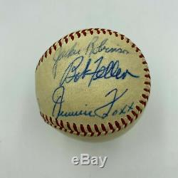 Jackie Robinson Rogers Hornsby 1962 Hall Of Fame Induction Signed Baseball JSA