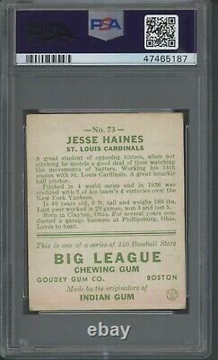Jesse Haines 1933 Goudey #73 PSA 4 Hall of Fame / Great Eye Appeal Sox