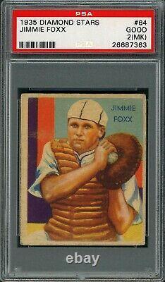 Jimmy Foxx 1935 Diamond Stars #64 PSA 2 (mk) Hall of Fame Slugger