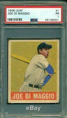 Joe Dimaggio 1948 Leaf #1 PSA 1 Hall of Fame/Yankees Legend Centered