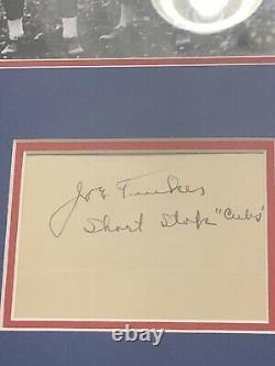Joe Tinker and Johnny Evers Signature Framed Autograph Baseball Hall Of Fame