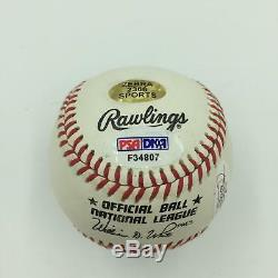 Johnny Mize Hall Of Fame 1981 Signed Inscribed Baseball PSA DNA & JSA Stickers