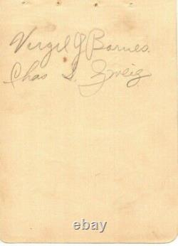 KENESAW MOUNTAIN LANDIS Autograph Album Page Baseball Hall Of Fame Died-1944