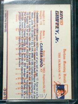 Ken Griffey Jr 1989 No Name Front Multi Error Star Nova Rookie, Hall of Fame