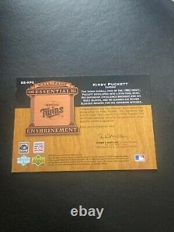Kirby Puckett 2005 hall of fame essential enshrinement auto autograph #3/25