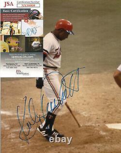 Kirby Puckett Signed 8x10-JSA COA-Baseball Twins-Original Photo-Hall Fame D-2006