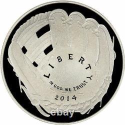 LOT (20) 2014 P Baseball Hall of Fame Silver Proof $1 Dollar Comm Coin Box & COA