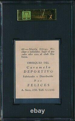 MARTIN DIHIGO 1945-1946 Caramelo Deportivo #65 SGC 1.5 FAIR HALL OF FAME HOF