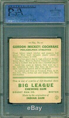 Mickey Cochrane 1933 Goudey #76 PSA 4 Hall of Fame / Great Eye Appeal