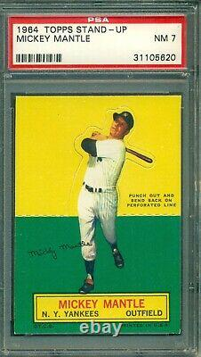Mickey Mantle 1964 Topps Stand-Up PSA 7 Hall of Fame Slugger Yankees