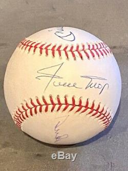 Mickey Mantle Willie Mays Duke Snider Hall of Fame Legends Autographed Baseball